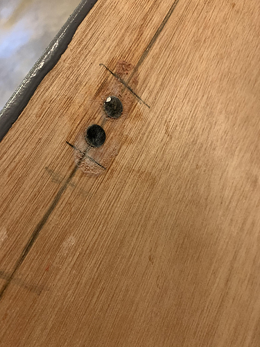 magnets in wood